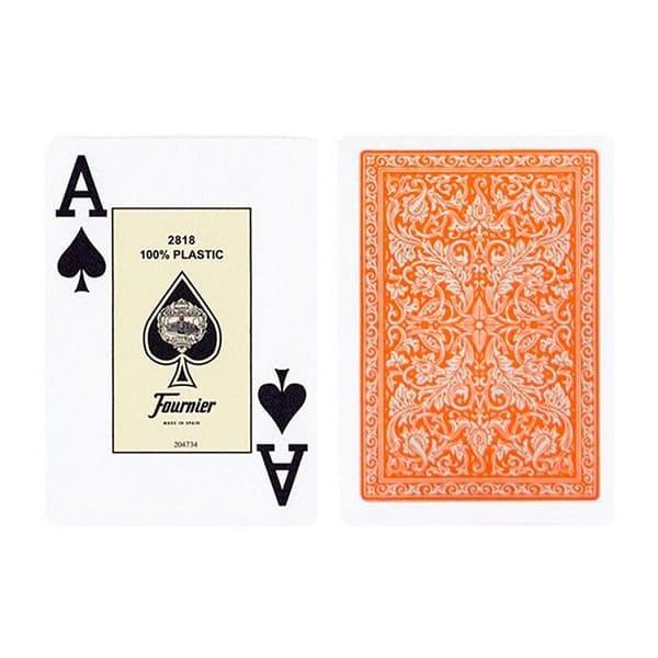 Пластикові карти Fournier Orange