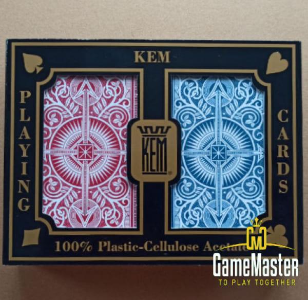Пластиковые карты Kem Arrow Red/Blue Narrow Jumbo index