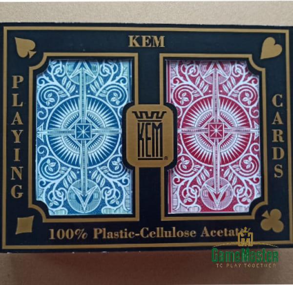 Пластикові карти для бриджу Kem Arrow Red/Blue Narrow Standard Index