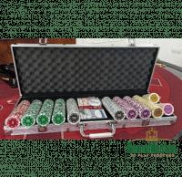 Профессиональный набор для покера 500 шт. c номиналом *5-5000*