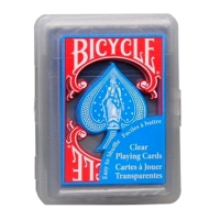 Пластикові карти Bicycle Clear Regular Index Blue