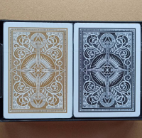Пластикові карти Black/Gold Kem Arrow Wide Jumbo index