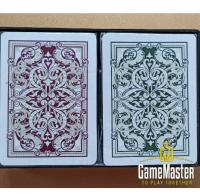 Пластиковые карты Kem Jacquard  Green / Burgundy Wide JumboIndex