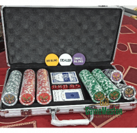 Професійний набір для покера 300 шт. з номінала *1*