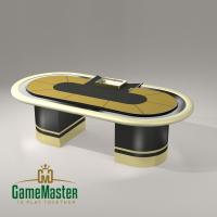 """Стіл для спортивного покеру класу """"Люкс"""" gold"""
